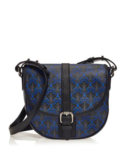 Carnaby Iphis Printed Crossbody Bag, Dark Blue