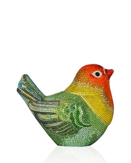 Bird Crystal Minaudiere Clutch Bag