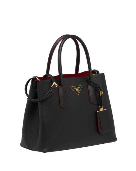 Image 3 of 5: Saffiano Cuir Double Small Tote Bag