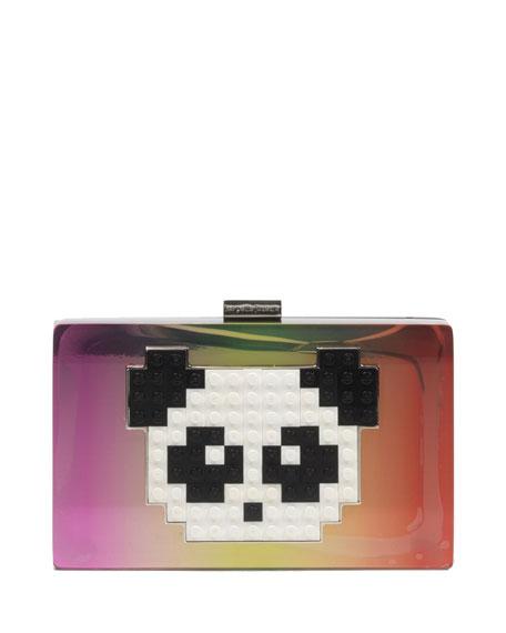 Grace Lego® Panda Minaudiere, Multi/Iridescent