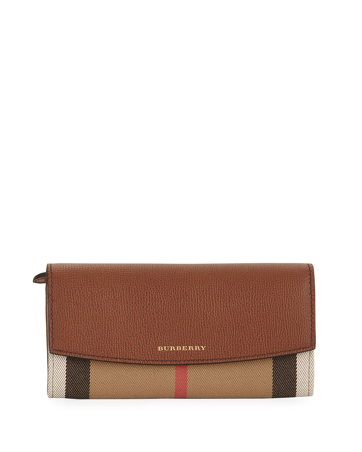Burberry Porter House Check   Leather Continental Wallet, Cocoa ... 08e6ce1564