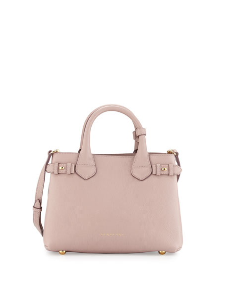 Burberry Banner House Check Derby Tote Bag, Pale