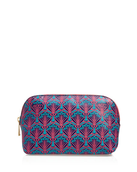 Liberty London Iphis Printed Canvas Cosmetics Bag, Navy