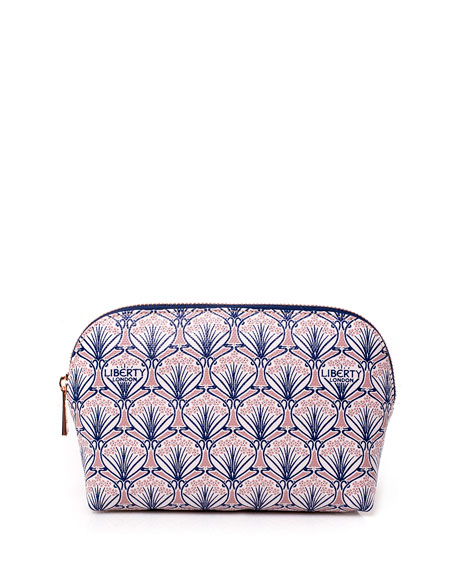 Liberty London Iphis Printed Canvas Cosmetics Bag, Blush