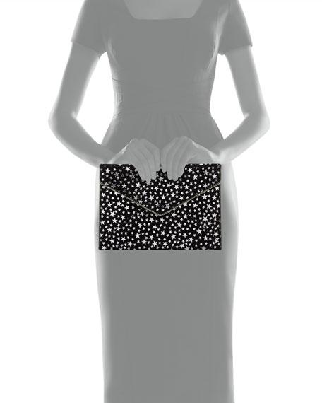Leo Star-Print Envelope Clutch Bag