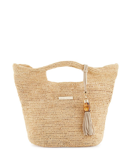 Heidi Klein Grace Bay Mini Raffia Beach Bucket