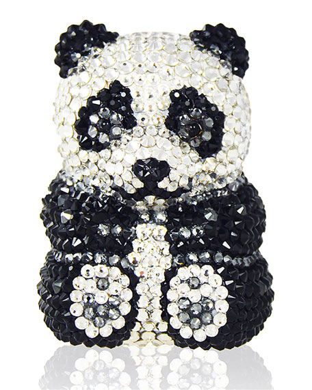 Judith Leiber Ling Panda Evening Clutch Bag, Black/White