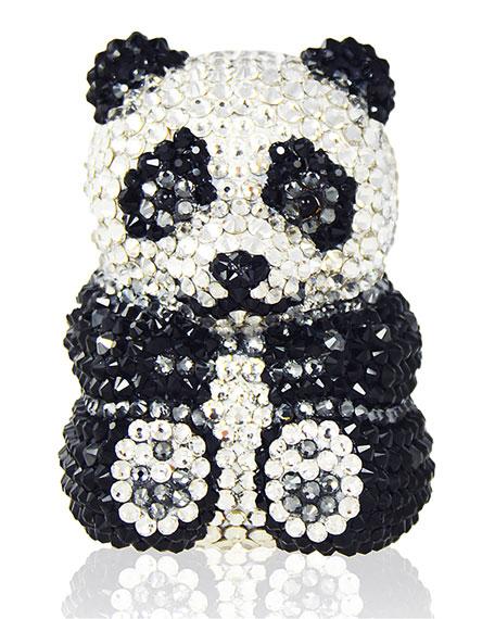 Judith Leiber Couture Ling Panda Pillbox, Black/White