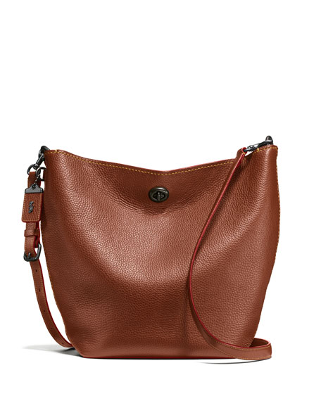 Coach 1941 Duffel Leather Bucket Bag, Brown