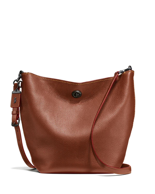 3842b937c602 Coach 1941 Duffel Leather Bucket Bag