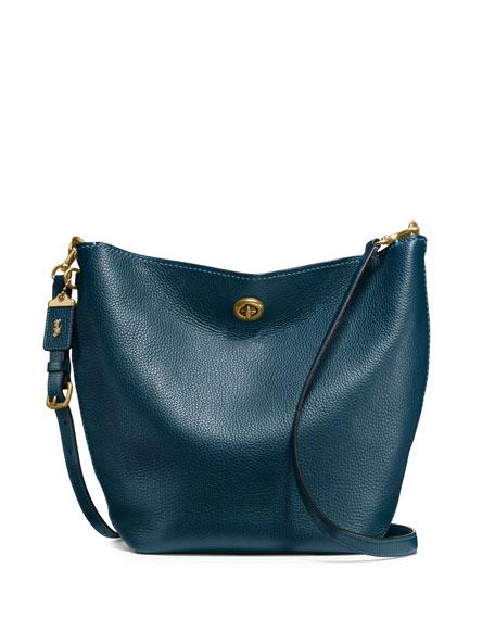 Coach 1941 Duffle Leather Bucket Bag, Blue