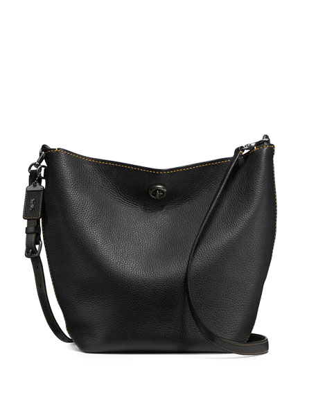 Coach 1941 Duffle Leather Bucket Bag, Black