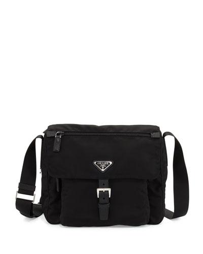 Small Nylon Crossbody Bag  Black (Nero)