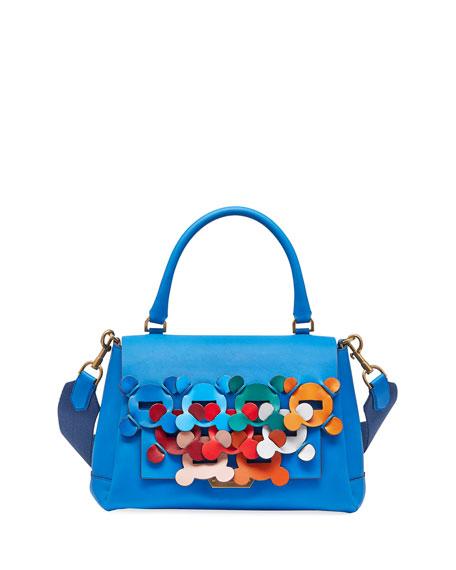 Anya Hindmarch Hedra Bathurst Small Leather Satchel Bag,
