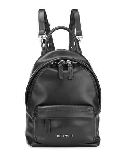 Nano Smooth Leather Backpack, Black