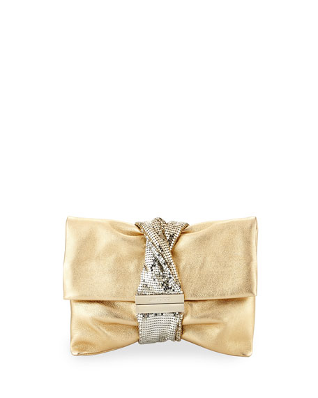Chandra Small Crystal Clutch Bag, Gold