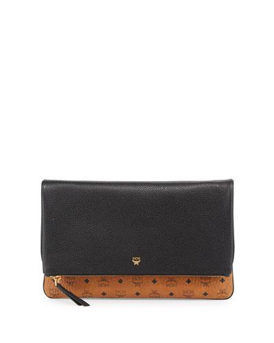 mcm corina visetos crossbody clutch bag black beige from. Black Bedroom Furniture Sets. Home Design Ideas
