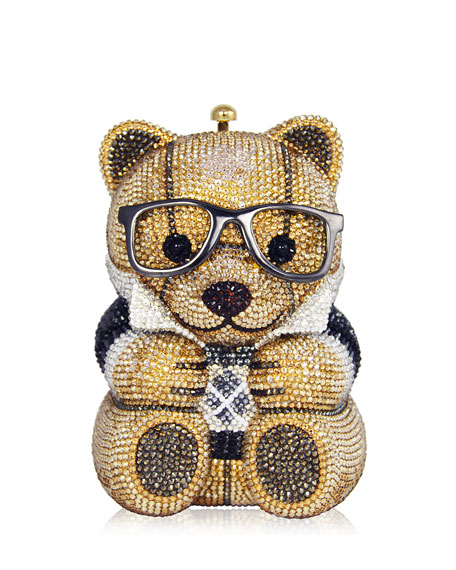 Judith Leiber Couture Spencer Teddy Bear Evening Clutch