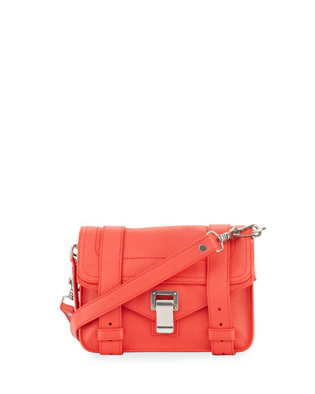 Proenza Schouler PS1 Mini Leather Shoulder Bag, Medium