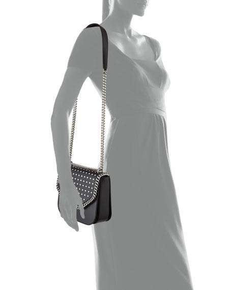 Studded Chain Shoulder Bag, Black