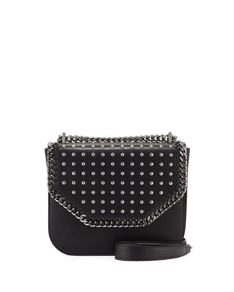 Stella McCartney Studded Chain Shoulder Bag, Black