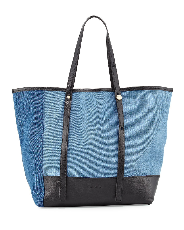 Andy Denim Tote Bag Blue