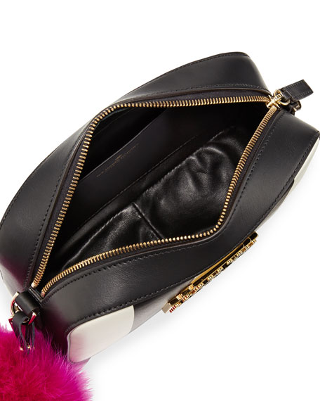 Roy Metal Smile Crossbody Bag, Black/Multi