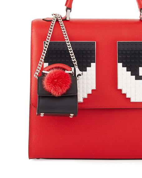 Nano Alex Bunny Charm for Handbag, Black/Red