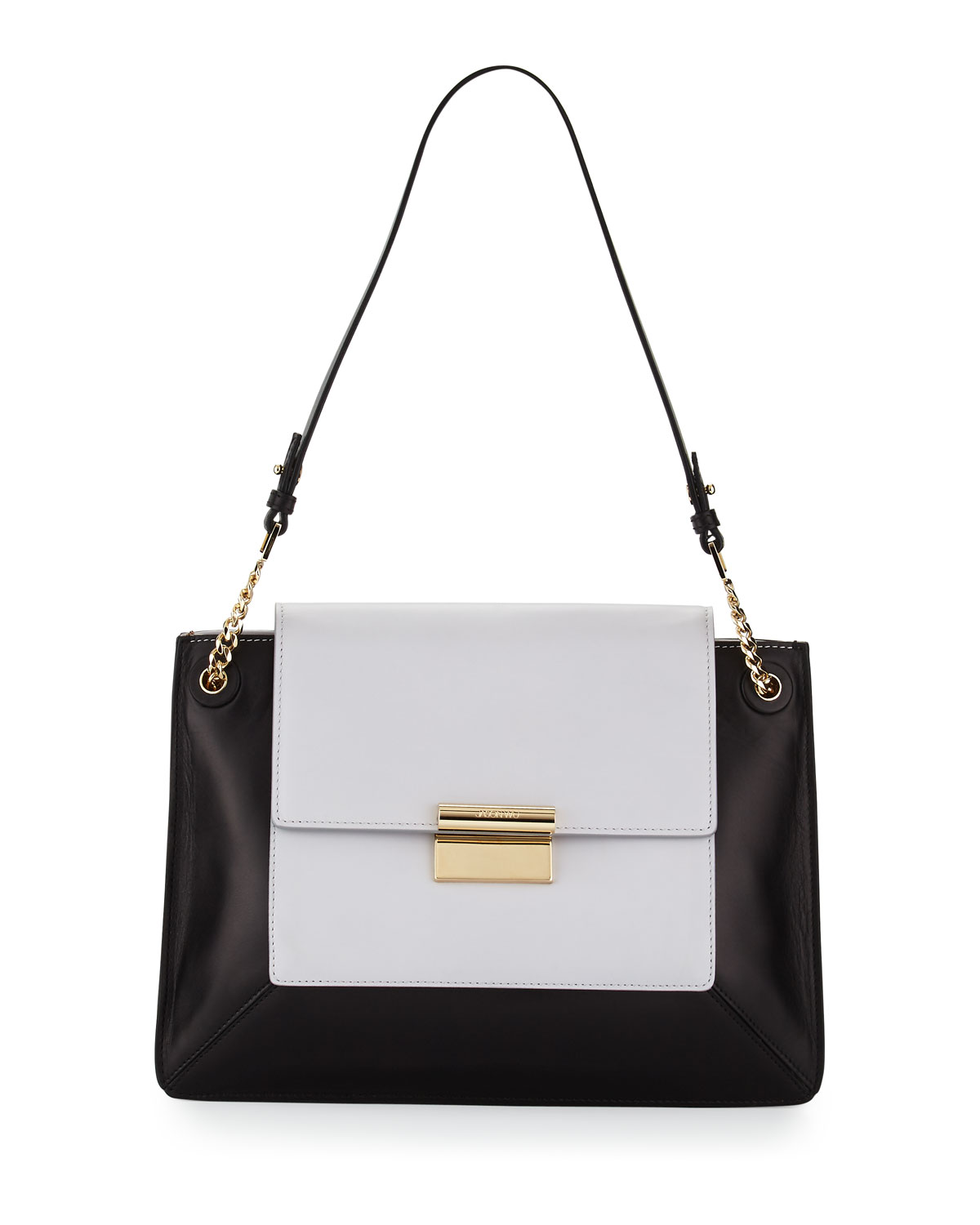 Christy Two Tone Leather Shoulder Bag