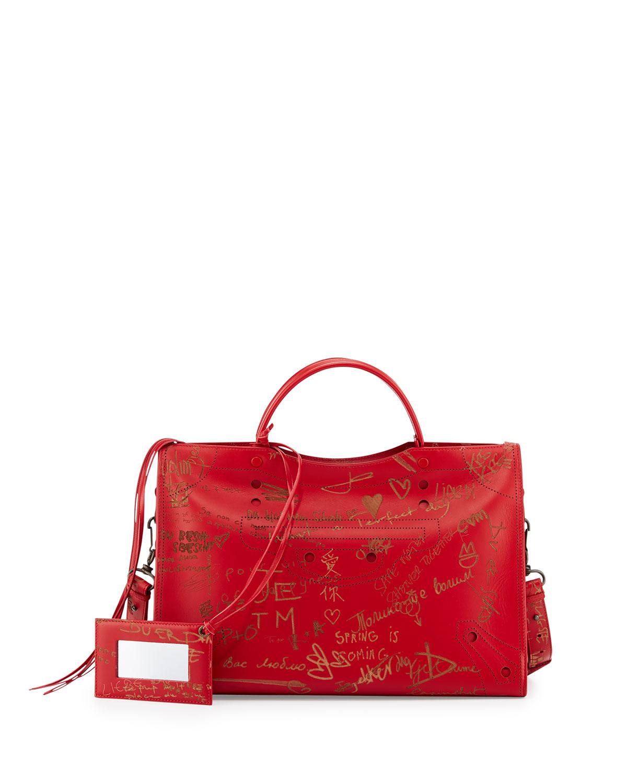 2ccb346a6163 Balenciaga Blackout City AJ Love Shoulder Bag