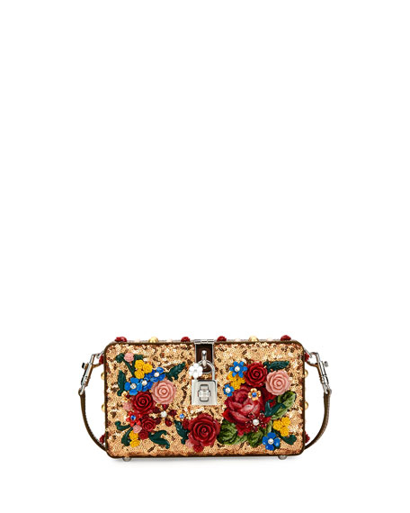 Dolce & Gabbana Dolce Floral Sequined Box Clutch