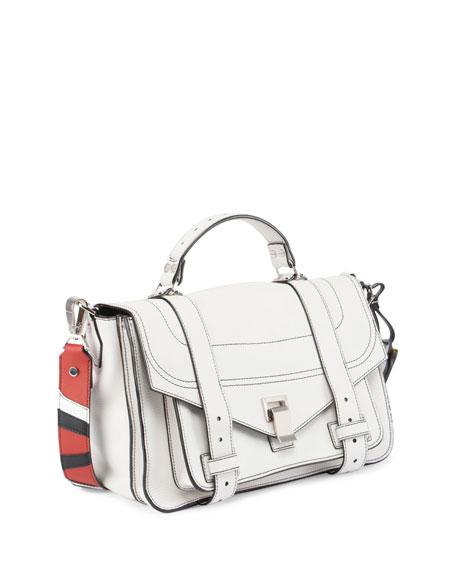 PS1 Medium Patchwork-Strap Satchel Bag