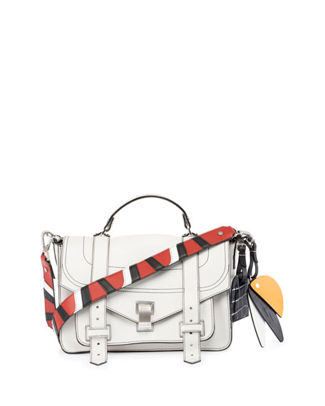 Proenza Schouler PS1 Medium Patchwork-Strap Satchel Bag