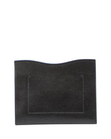 Curl Medium Cutout Clutch Bag, Black