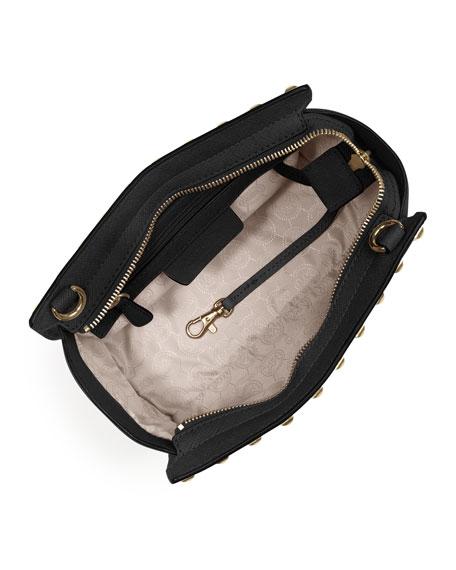 Selma Stud Medium Zip Messenger Bag
