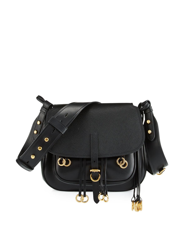 d700584f8055 Prada Leather City Saddle Bag   Neiman Marcus
