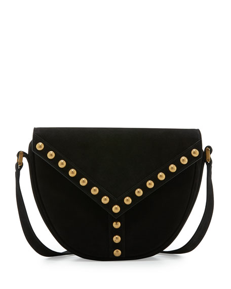 Saint Laurent Y Studs Suede Crossbody Bag 19b3c8c681443