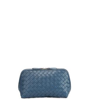 e21bf21e865c9c Bottega Veneta Woven Leather Medium Cosmetics Case