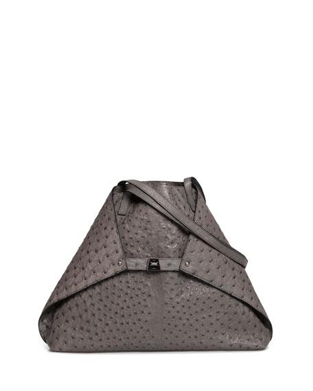 Akris Ai Ostrich Shoulder Bag