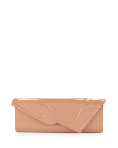 Image 1 of 2: Christian Louboutin So Kate Patent East-West Clutch Bag, Nude