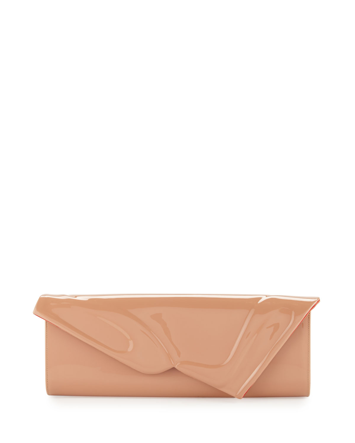 Christian Louboutin So Kate Patent East-West Clutch Bag, Nude
