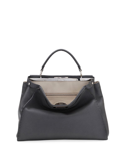 Peekaboo Large Selleria Leather Top-Handle Bag