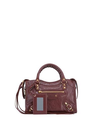Classic City Mini Leather Satchel Bag