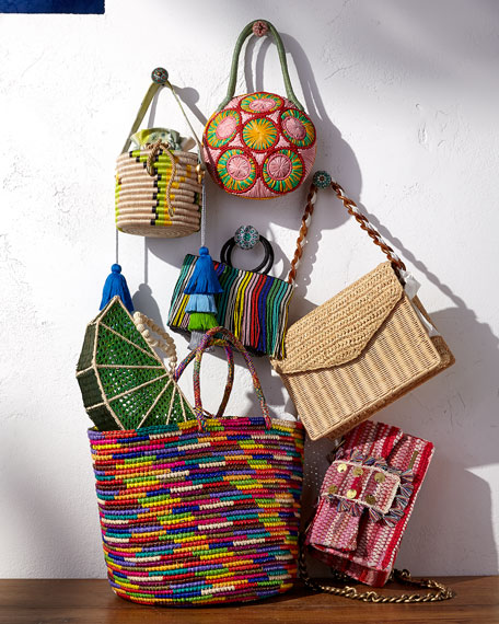 Sensi Studio Maxi Woven Straw Tote Bag