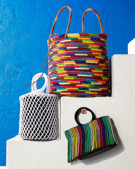 Image 2 of 4: Maxi Woven Straw Tote Bag