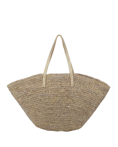 Sapelo Raffia Beach Tote Bag