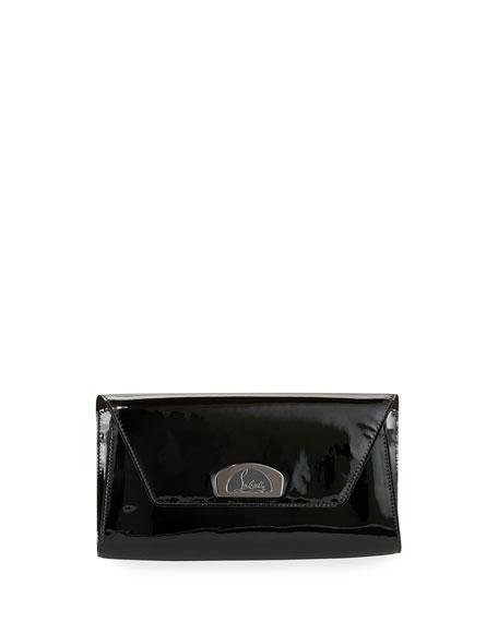 Christian Louboutin Vero Dodat Flap Patent Clutch Bag,