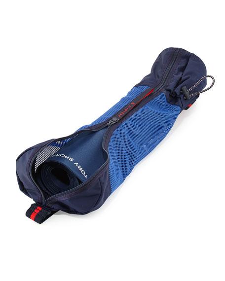 Varsity Mesh Sling Carrier for Yoga Mat, Blue/Multi