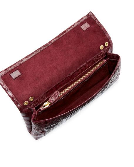 Nancy Gonzalez Gotham Crocodile Flap Clutch Bag