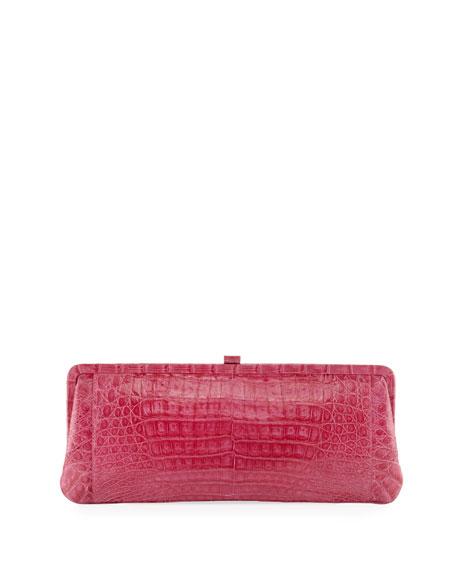Small Frame Crocodile Clutch Bag